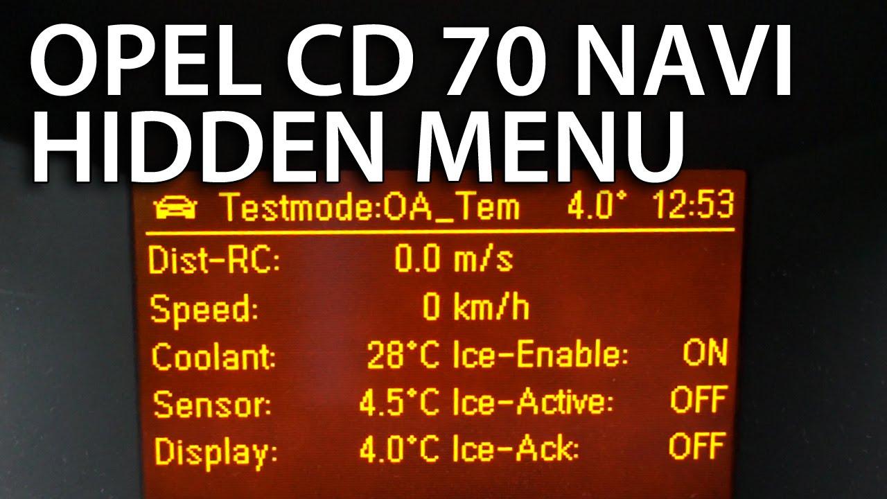 opel astra gid cd 70 navi hidden menu navigation secret. Black Bedroom Furniture Sets. Home Design Ideas