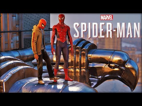 Spider-man Teaches Miles Morales How to Swing - PS4 Spider-man (Clip)