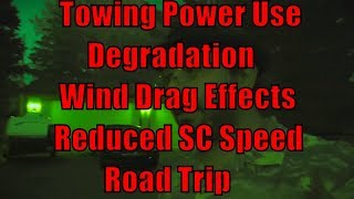 Tesla Road Trip Energy Use, Costs, Degradation and Wind Drag