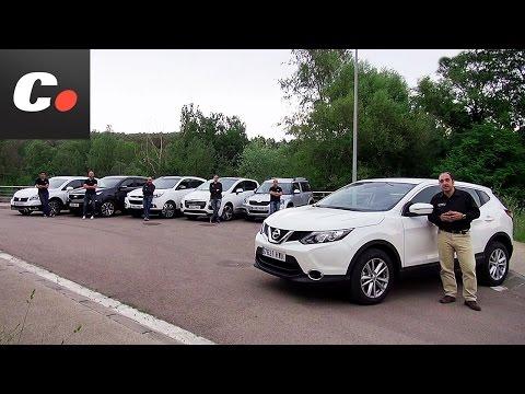 Nissan Qashqai, Hyundai ix35, Kia Sportage, Skoda Yeti, 3008, SX4 S Cross Prueba SUV coches.net