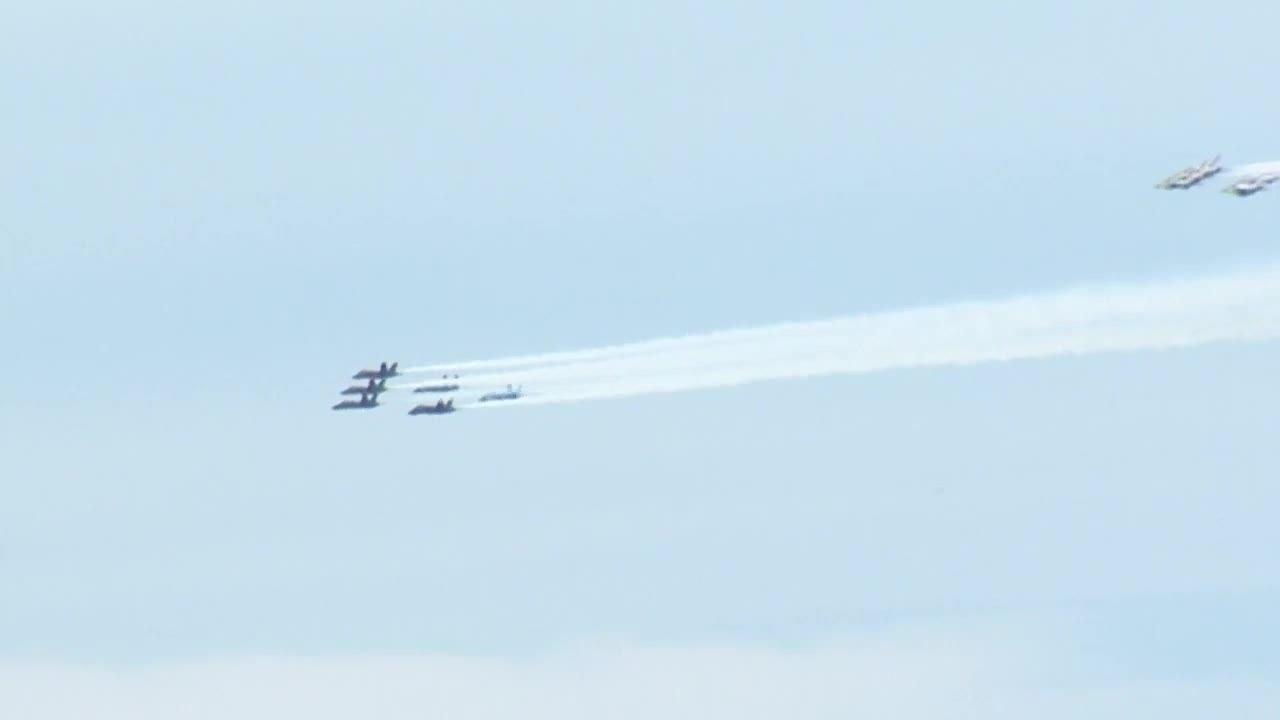 Blue Angels, Thunderbirds fly over DC, Baltimore for 'Healthcare ...