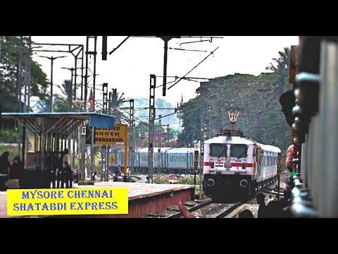 Indian Railways SHATABDI EXPRESS OVERTAKE BASAVA Express At Ramanagaram!!