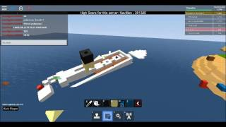ROBLOX Build: Titanic I Build A Boat & Sail Game I Didn't Work Out Too Well & Instead.... I Part 5.5