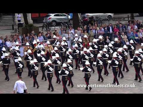Band of HM Royal Marines School of Music Beat Retreat Guildhall Square Portsmouth 12th August 2017