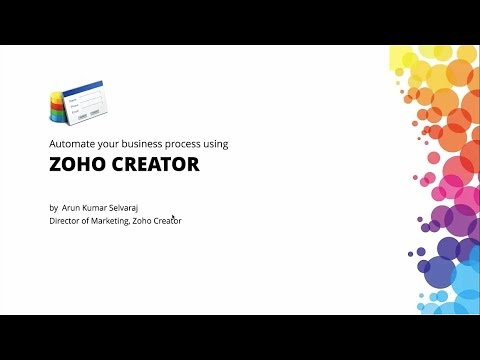 BPM Webinar | Business Process Management in the cloud - Zoho Creator