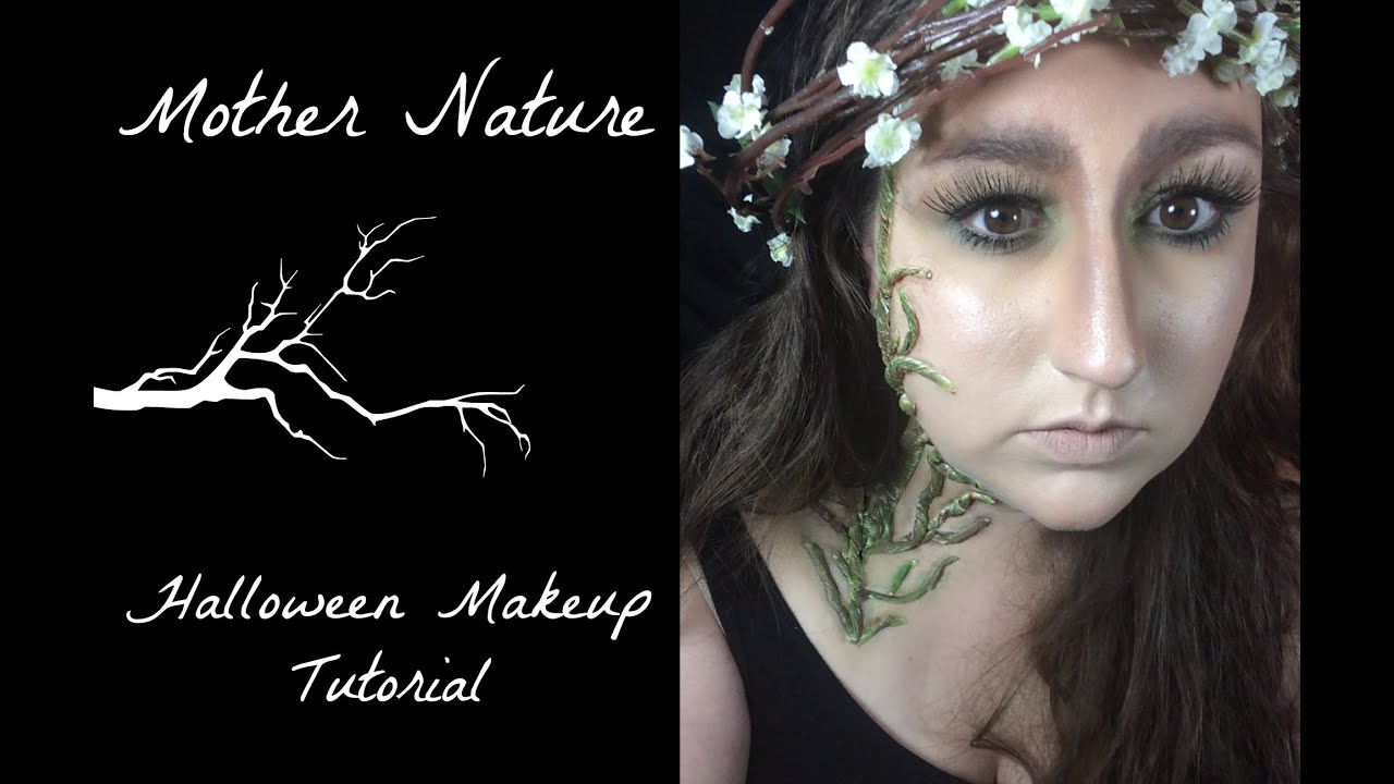 Halloween Makeup Tutorial 2014 Mother Nature Mother Earth