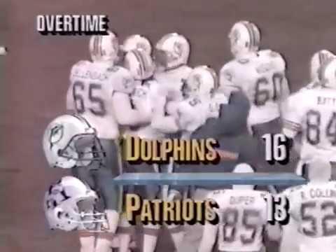 1992 Wk 17 Miami at New England Highlights