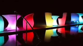 Светящаяся мебель: стулья, столы, вазы. Обзор светящейся мебели из акрила(оргстекла) от amf.com.ua