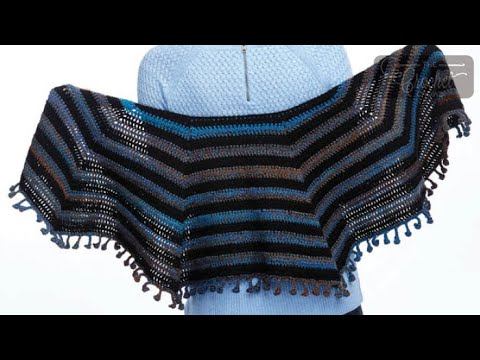 How To Crochet A Shawl: Cool Casual Shawl / Cape
