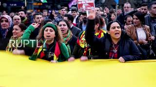 Germany: Pro-Kurdish demonstrators march for Afrin in Hamburg