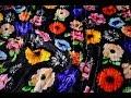 Поделки - Королевский бархат ткань шелковый жатый итальянский с цветочным принтом коллекция 2019