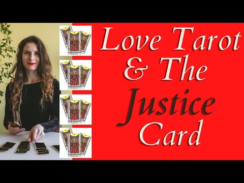 Love Tarot and The Justice Card ❤ The Meaning In A Love Tarot Reading