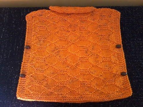 tuto tricot b b tricoter un poncho 9 12 mois youtube. Black Bedroom Furniture Sets. Home Design Ideas