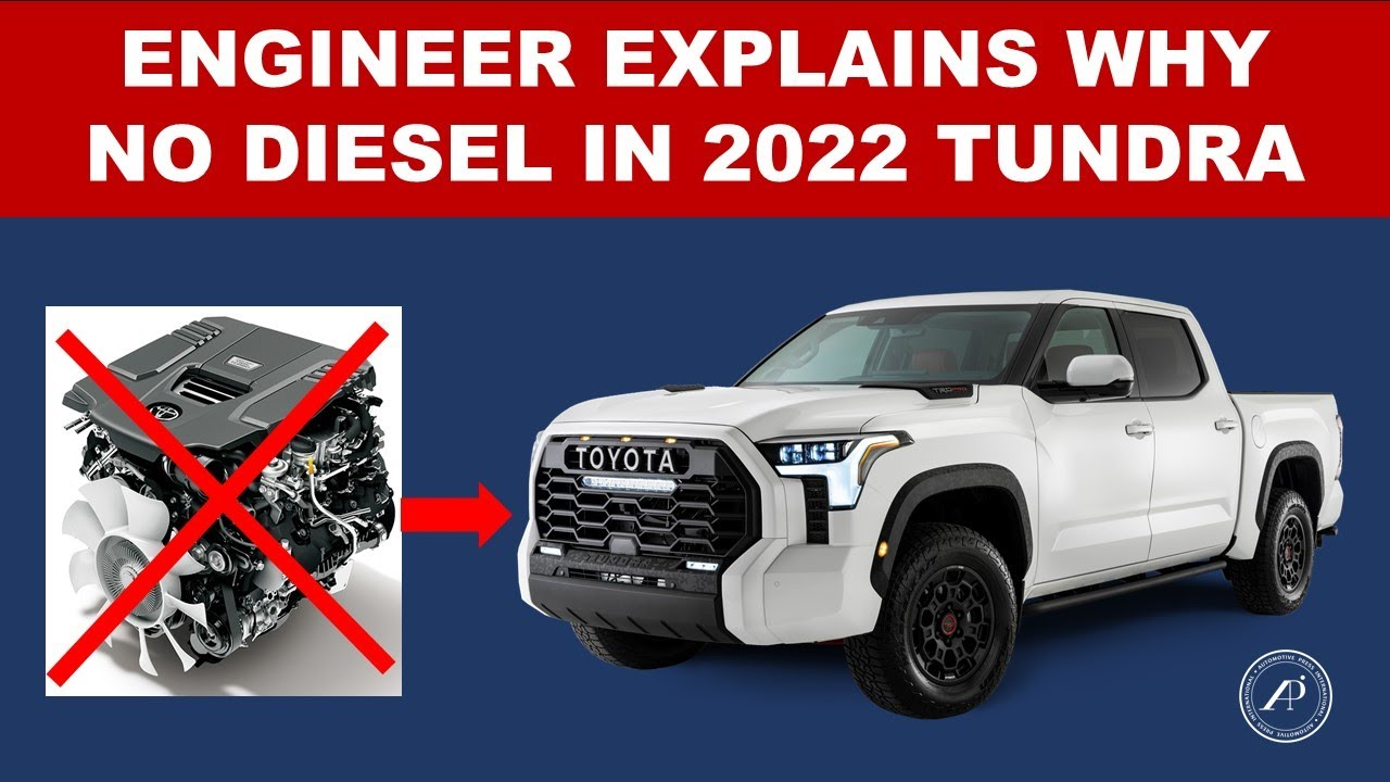 ENGINEER EXPLAINS WHY THERE IS NO DIESEL & NO V-8 ENGINE IN 2022 TOYOTA TUNDRA
