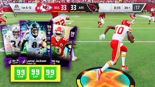 i gave my entire offense 99 SPEED! FASTEST TEAM IN MADDEN 20 ULTIMATE TEAM!