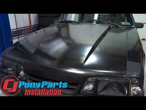 "Restoring the Mustang Exterior: 1987-1993 Dynacorn Metal 2"" Cowl Hood Installation"
