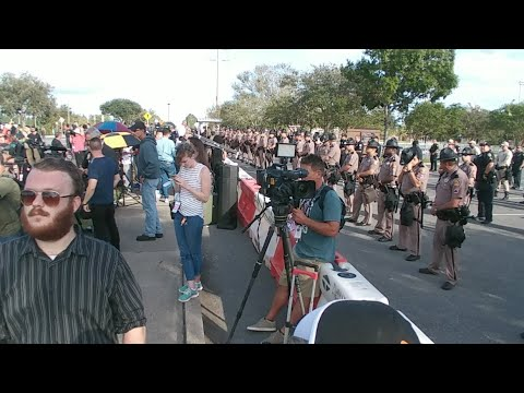 Richard Spencer Protests Live In Gainesville FL