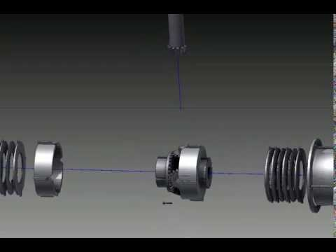Limited Slip Differential Assembly Animation