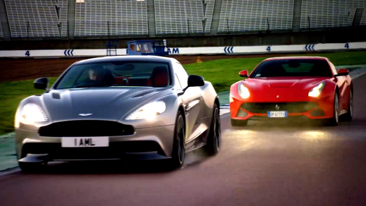 Ferrari F12 Vs Aston Martin Vanquish Head To Head Race Fifth Gear Youtube