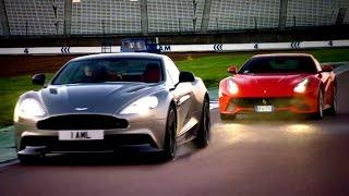 Ferrari F12 vs. Aston Martin Vanquish: Head To Head Race - Fifth Gear