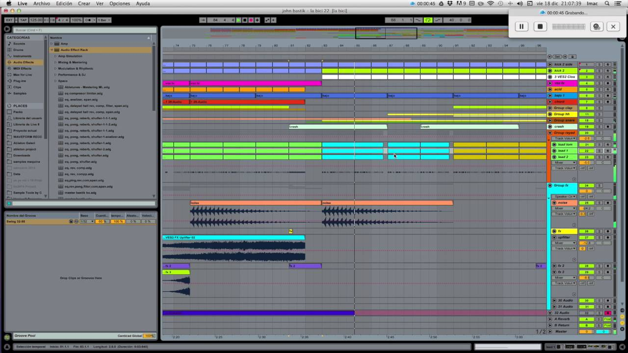 how to send ableton live projects
