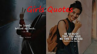 Attitude Quotes For Girls || #Quotes