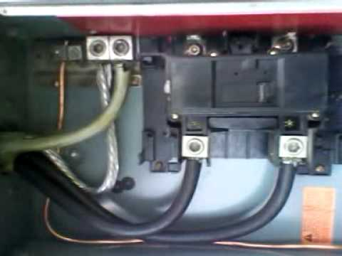 200 Amp Meter Base Wiring Diagram Doorbell Wire Out Door Box - Youtube