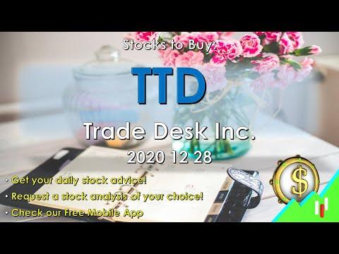 Stocks to Buy: TTD The Trade Desk, Inc. 2020 12 28