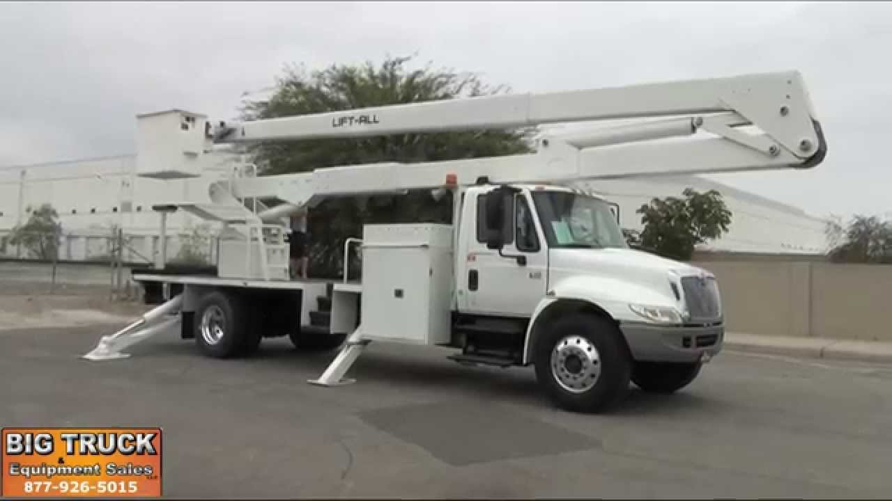 2007 International 4300 Lift-All LM70-2MS 75' Forestry Bucket Truck