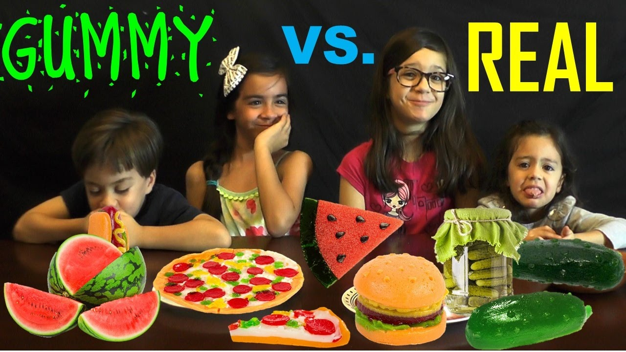 Gummy Food Vs Real Food Challenge Cute Videos For Toddlers