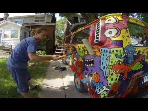 Time Lapse Clear Coating The Hippie Van To Protect The
