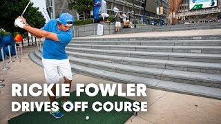 PGA TOUR star Rickie Fowler drives off course in Dallas