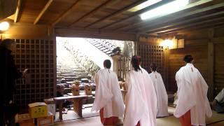 尾張戸神社 巫女舞 2011 元旦