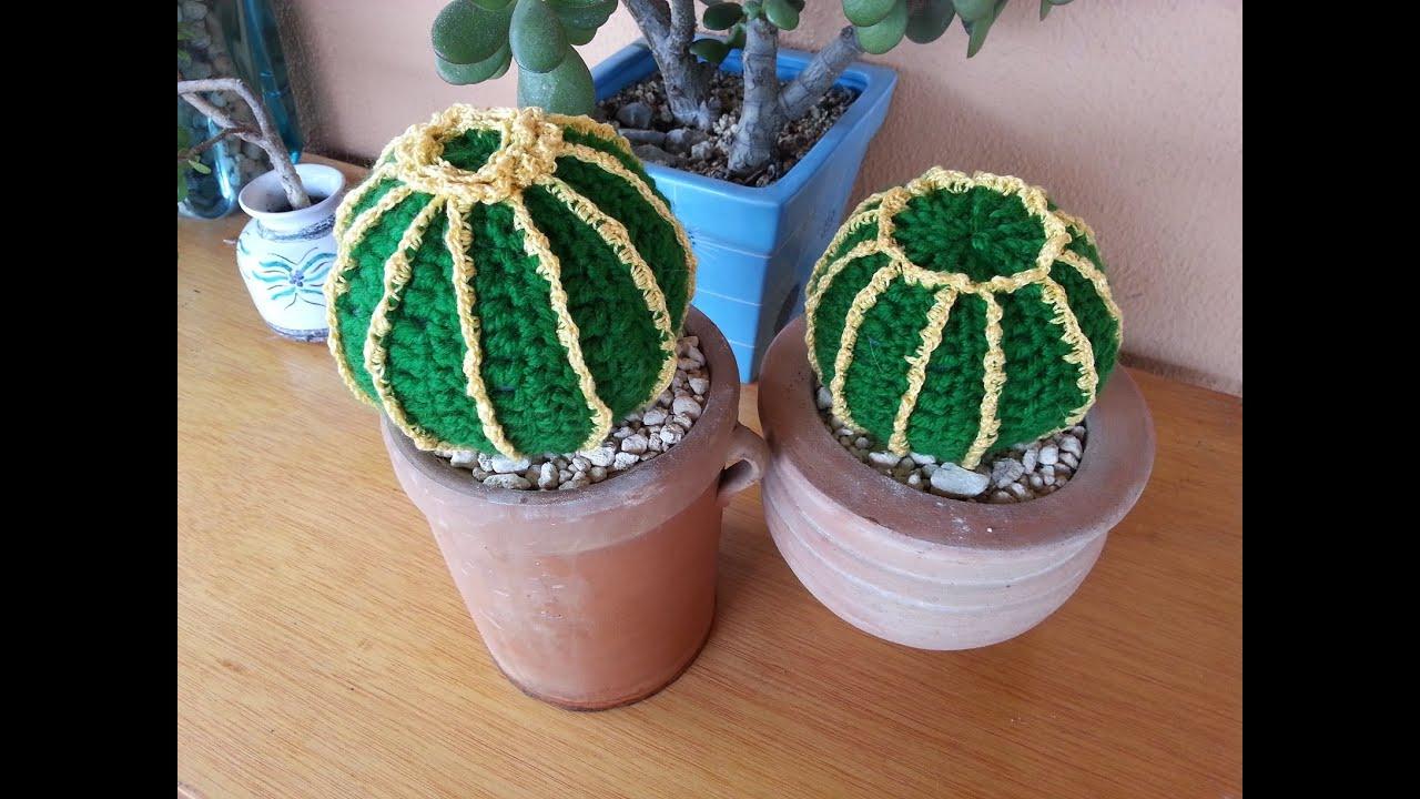 Amigurumi Cactus Paso A Paso : Tutorial crochet ganchillo cactus bola youtube