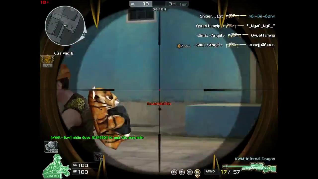 Hướng dẫn tránh đạn súng ngắm trong game Đột Kích