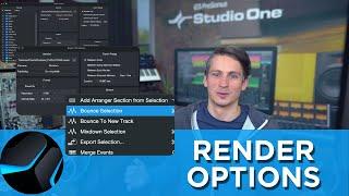 Render Options in Studio One
