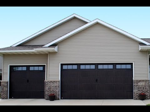 Black Stamped Carriage House Garage Doors 630 271 9343 Youtube