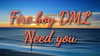 Fireboy DML - Need You (Lyrics)🎼