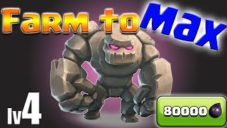 Clash of Clans: TH9 Farm to MAX! Golems lv4! Queenwalk!