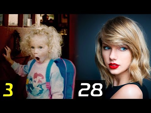 TAYLOR SWIFT Transformation - From 1 To 28 Years | Then and Now | Childhood | Before famous | After