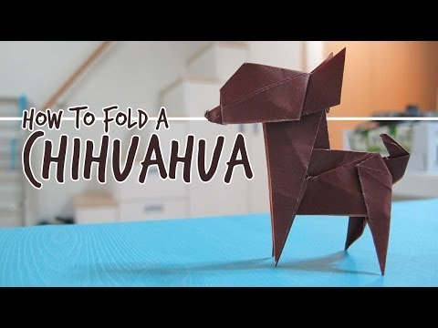How to Fold an Origami Dog - Chihuahua (Fuchimoto Muneji)