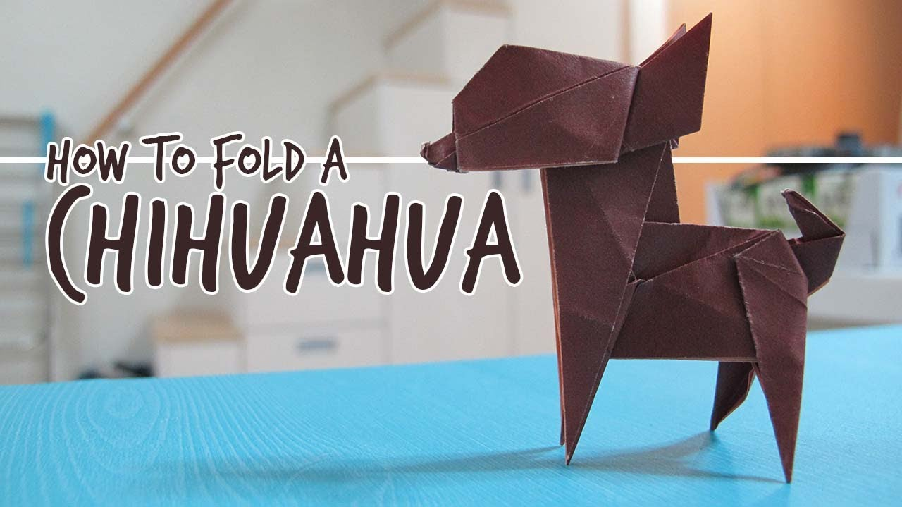 How to fold an origami dog chihuahua fuchimoto muneji youtube jeuxipadfo Image collections
