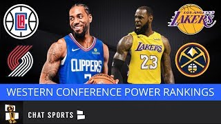 2020 NBA Playoff Projections & Power Rankings For Western Conference Led By Lakers & Clippers