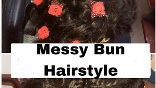Messy Bun Hairstyle || Hair style for Bride || Neha Beauty Hub