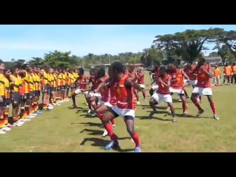 Aboriginal vs PNG Pre-match confrontation