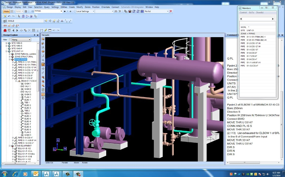 Pdms Piping The Pump Suction Line Youtube
