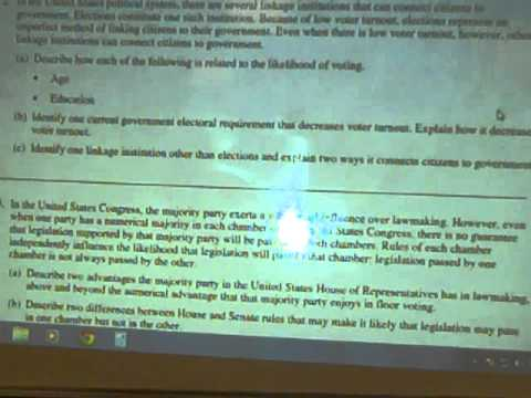 Beene AP Government Review Free Response