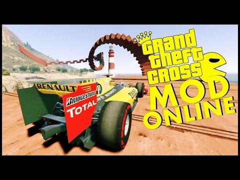 GTA V Online – WALLRIDE com carros de FORMULA 1 – GTA 5 MODS