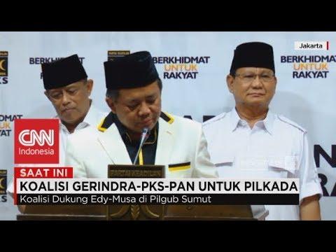 FULL- Pilkada 2018 Memanas, Ini Cagub-Cawagub Dari Koalisi Gerindra, PKS, PAN