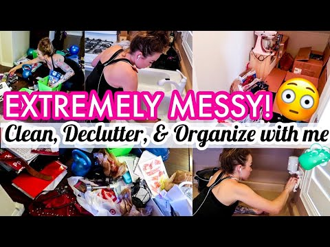 ULTIMATE CLEAN, DECLUTTER, ORGANIZE WITH ME | MESSY HOUSE CLEAN WITH ME 2019 | CLEANING MOTIVATION